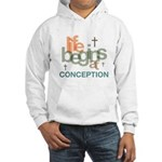 Life Begins At Conception Hooded Sweatshirt