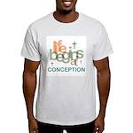 Life Begins At Conception Light T-Shirt