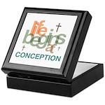 Life Begins At Conception Keepsake Box