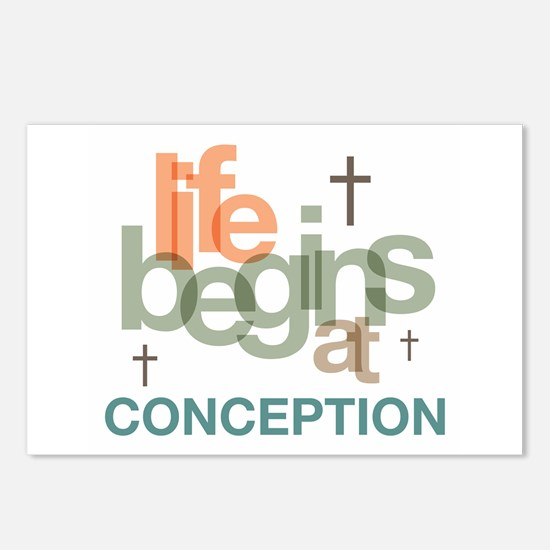 Life Begins At Conception Postcards (Package of 8)