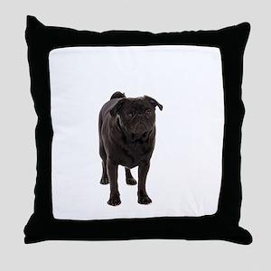 Pug 5 Throw Pillow