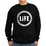 Life Begins At Conception Sweatshirt (dark)