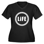 Life Begins At Conception Women's Plus Size V-Neck