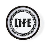 Life Begins At Conception Wall Clock