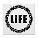 Life Begins At Conception Tile Coaster