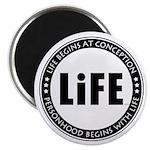 Life Begins At Conception Magnet