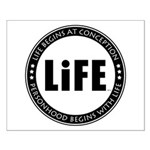 Life Begins At Conception Small Poster