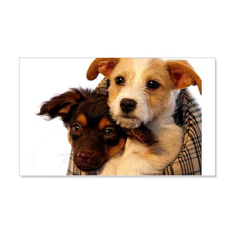 Puppies 22x14 Wall Peel