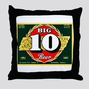 Tennessee Beer Label 1 Throw Pillow