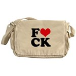 Fucking love Messenger Bag