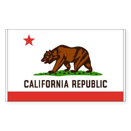 Flag of California Rectangle Sticker
