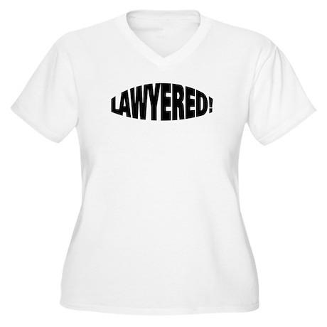 Lawyered Women's Plus Size V-Neck T-Shirt