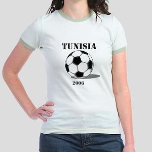 Tunisia Soccer 2006 Jr. Ringer T-Shirt