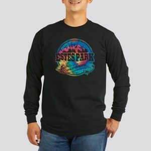 Estes Park Old Circle Long Sleeve Dark T-Shirt