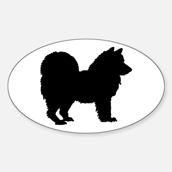 Chow Chow Silhouette Sticker (Oval)
