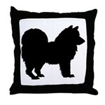Chow Chow Silhouette Throw Pillow