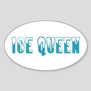 Ice Queen... Oval Sticker