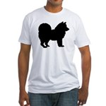 Chow Chow Silhouette Fitted T-Shirt