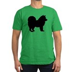 Chow Chow Silhouette Men's Fitted T-Shirt (dark)