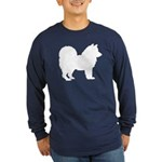 Chow Chow Silhouette Long Sleeve Dark T-Shirt