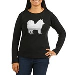 Chow Chow Silhouette Women's Long Sleeve Dark T-Sh