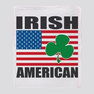 Irish American Flag Throw Blanket