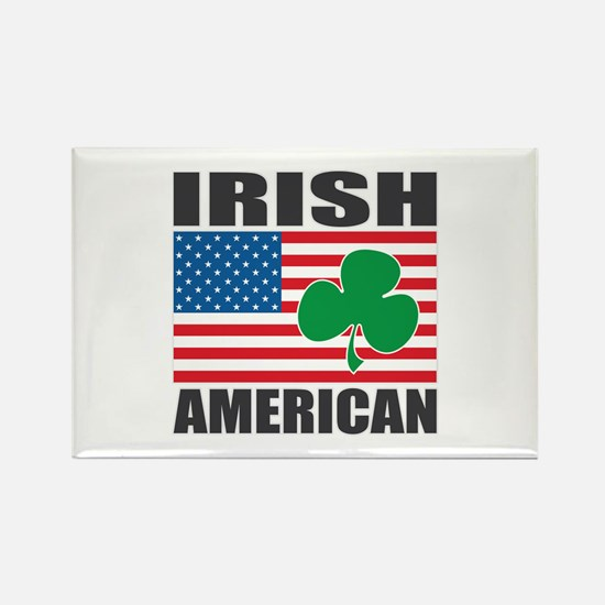 Irish American Flag Rectangle Magnet (100 pack)