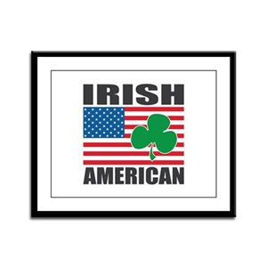 Irish American Flag Framed Panel Print