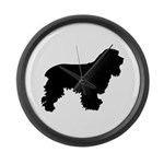 Cocker Spaniel Silhouette Large Wall Clock