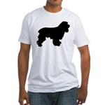 Cocker Spaniel Silhouette Fitted T-Shirt
