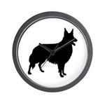 Collie Silhouette Wall Clock