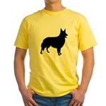 Collie Silhouette Yellow T-Shirt