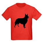Christmas or Holiday Collie Silhouette Kids Dark T