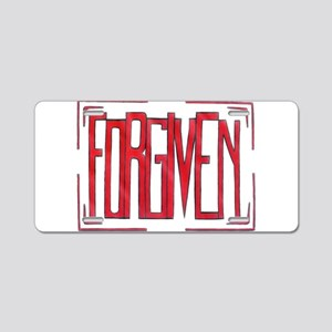 Stamped Forgiven Aluminum License Plate