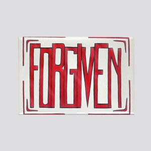 Stamped Forgiven Rectangle Magnet