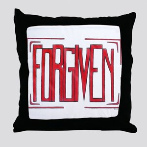 Stamped Forgiven Throw Pillow