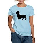 Dachshund Silhouette Women's Light T-Shirt