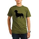 Dachshund Silhouette Organic Men's T-Shirt (dark)