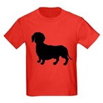Dachshund Silhouette Kids Dark T-Shirt
