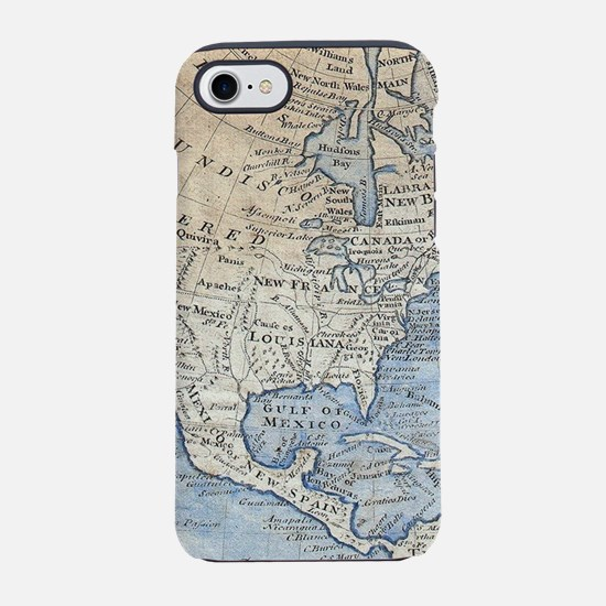 Vintage Map of North America ( iPhone 7 Tough Case