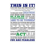 CHICK Fearless Manifesto Mini Poster