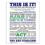 CHICK Fearless Manifesto Small Poster