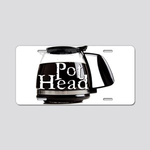 POT HEAD Aluminum License Plate