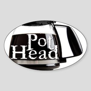 POT HEAD Sticker (Oval)