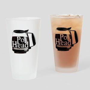 POT HEAD Drinking Glass