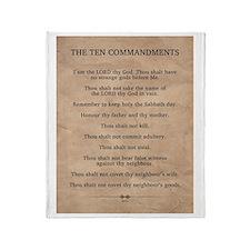 The Ten Commandments Throw Blanket