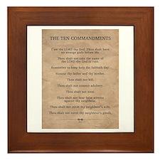 The Ten Commandments Framed Tile