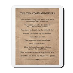 The Ten Commandments Mousepad