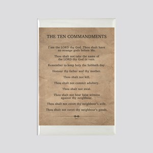 The Ten Commandments Rectangle Magnet