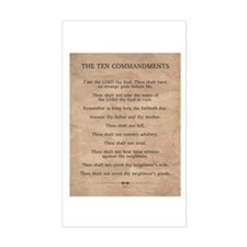 The Ten Commandments Sticker (Rectangle)